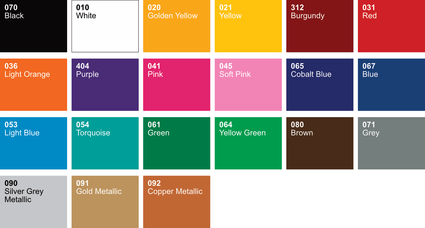 color chart oracal 651