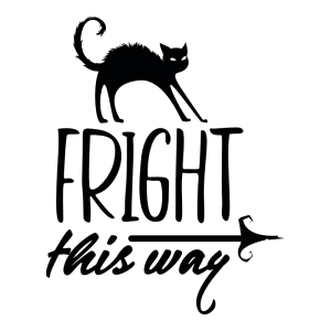 fright this way decal sticker