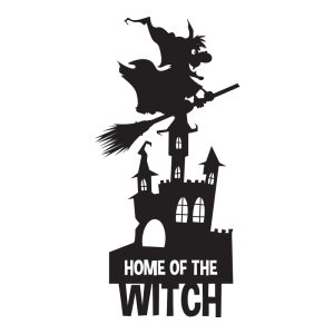 home of the witch 1 decal sticker