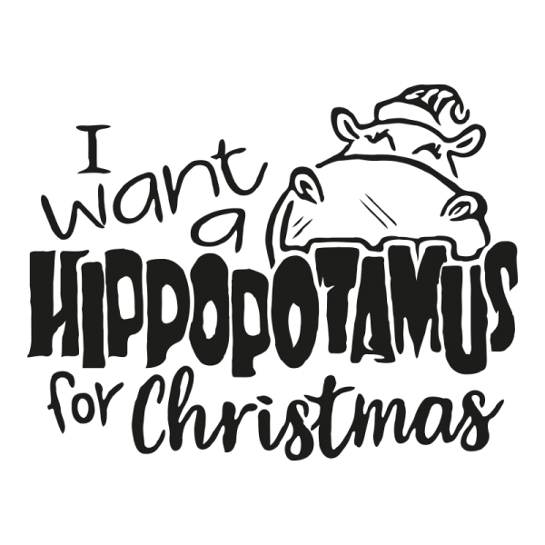 i want hippopotamus for christmas decal sticker
