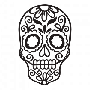 sugar skull 01 decal sticker