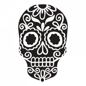 sugar skull 02 decal sticker